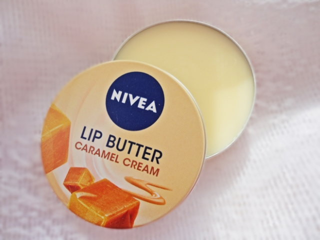 nivea caramel cream lip butter review