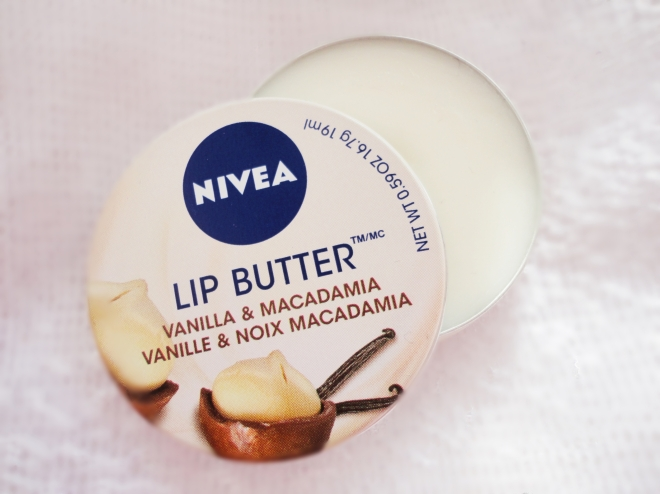 nivea vanilla and macadamie lip butter review