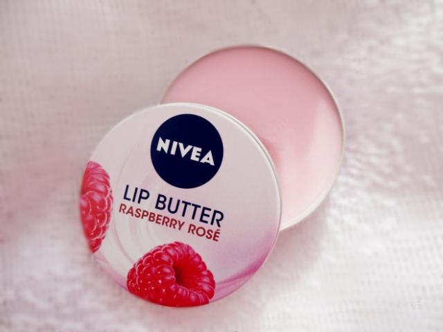 nivea raspberry rose lip butter review