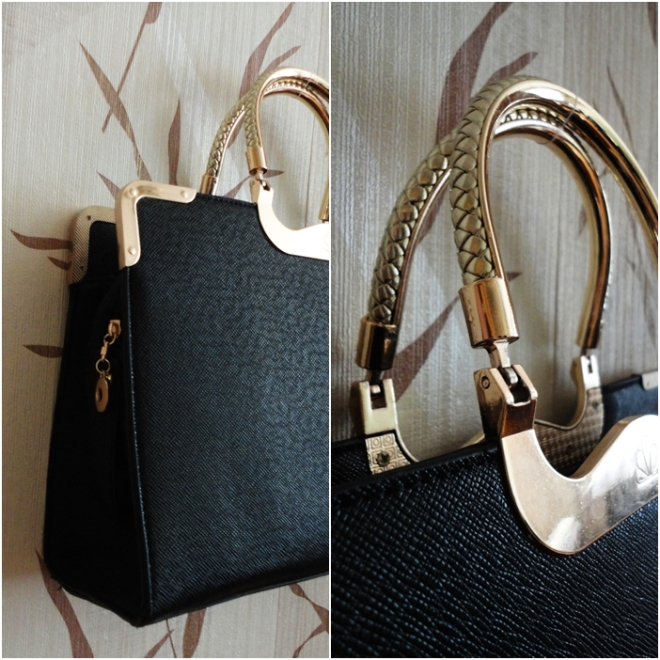 structured black bag