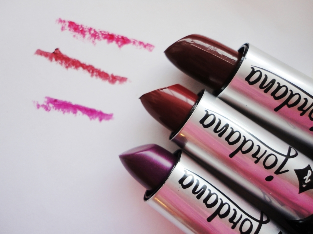 Jordana lipstick swatches