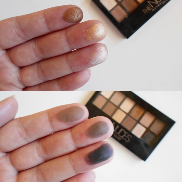 maybelline the nudes swatches