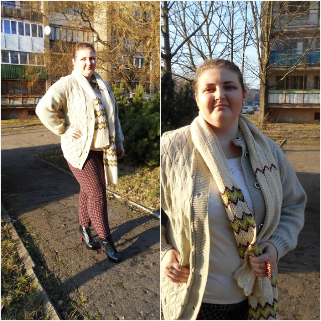 plus size knitted cardigan outfit